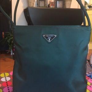 Prada Hunter Green bag